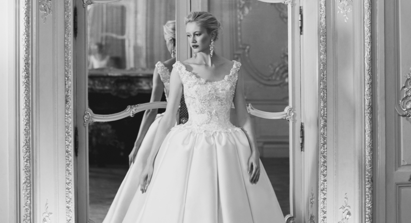 COUTURE WEDDING DRESS – PALOMA CLASSIC ACANTHUS