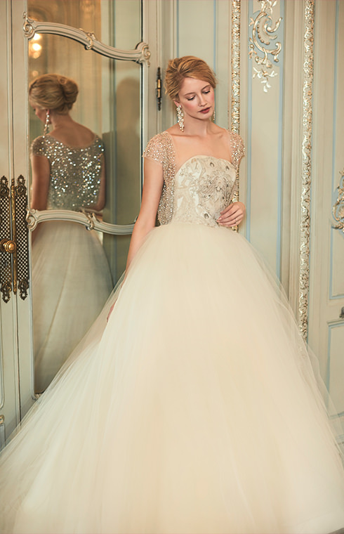 Phillipa Lepley Bespoke Embroidery Tulle Wedding Dress