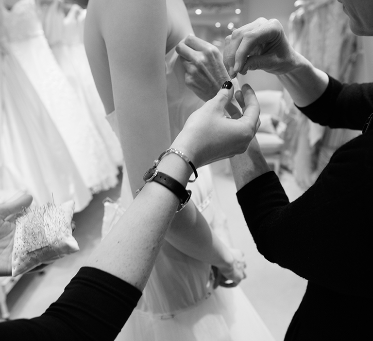 HOW A COUTURE PHILLIPA LEPLEY WEDDING DRESS IS MADE