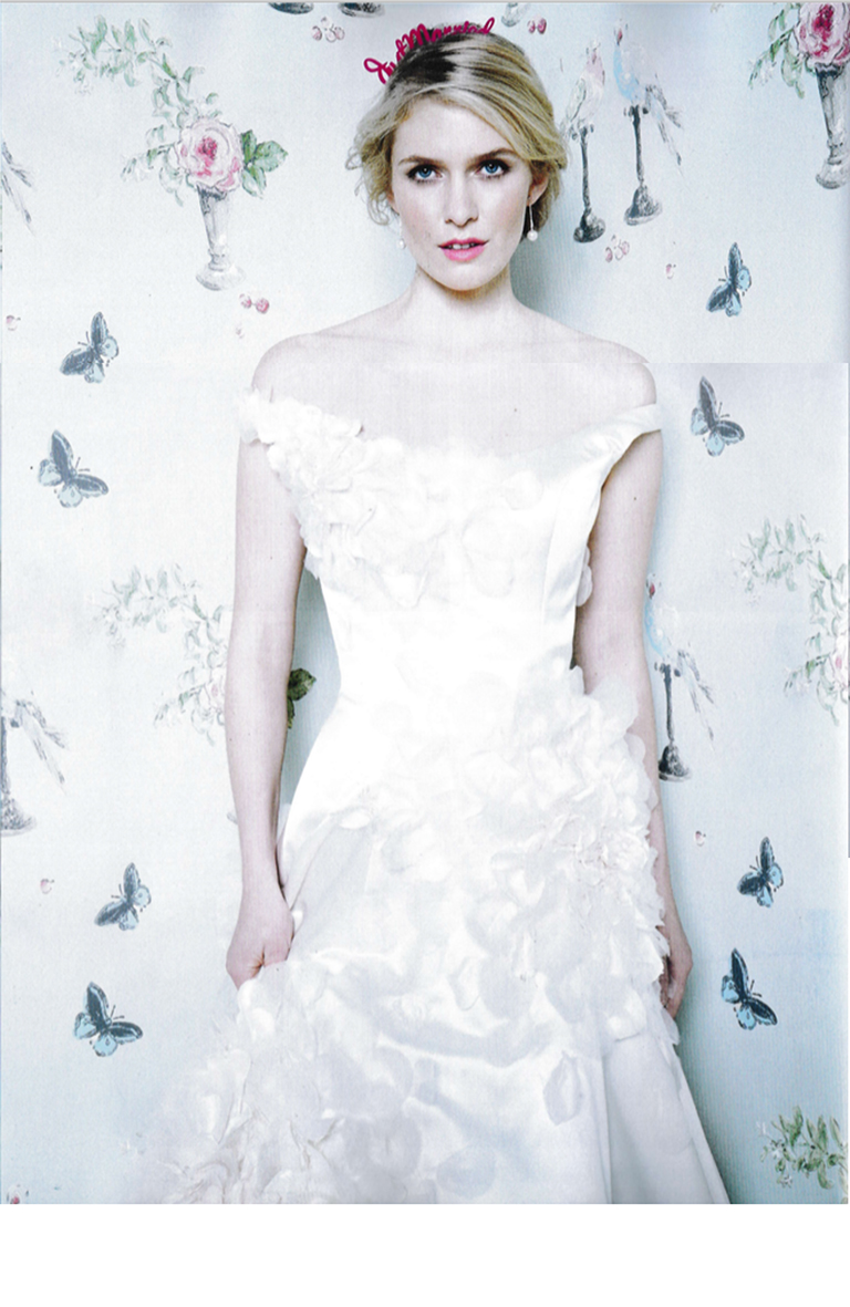 PHILLIPA LEPLEY COUTURE FLORAL DRESS FEATURED IN YOU AND YOUR WEDDING MAGAZINE