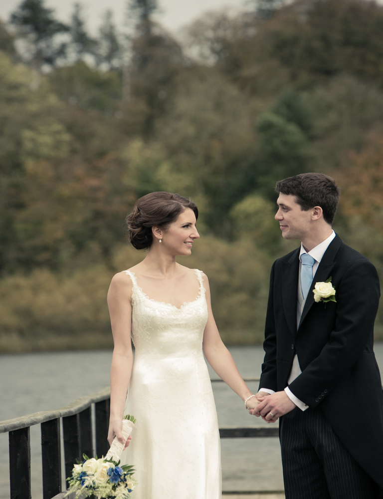 Phillipa Lepley Lace Wedding Dress with low back