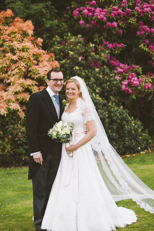 Phillipa Lepley Couture wedding dress with veil