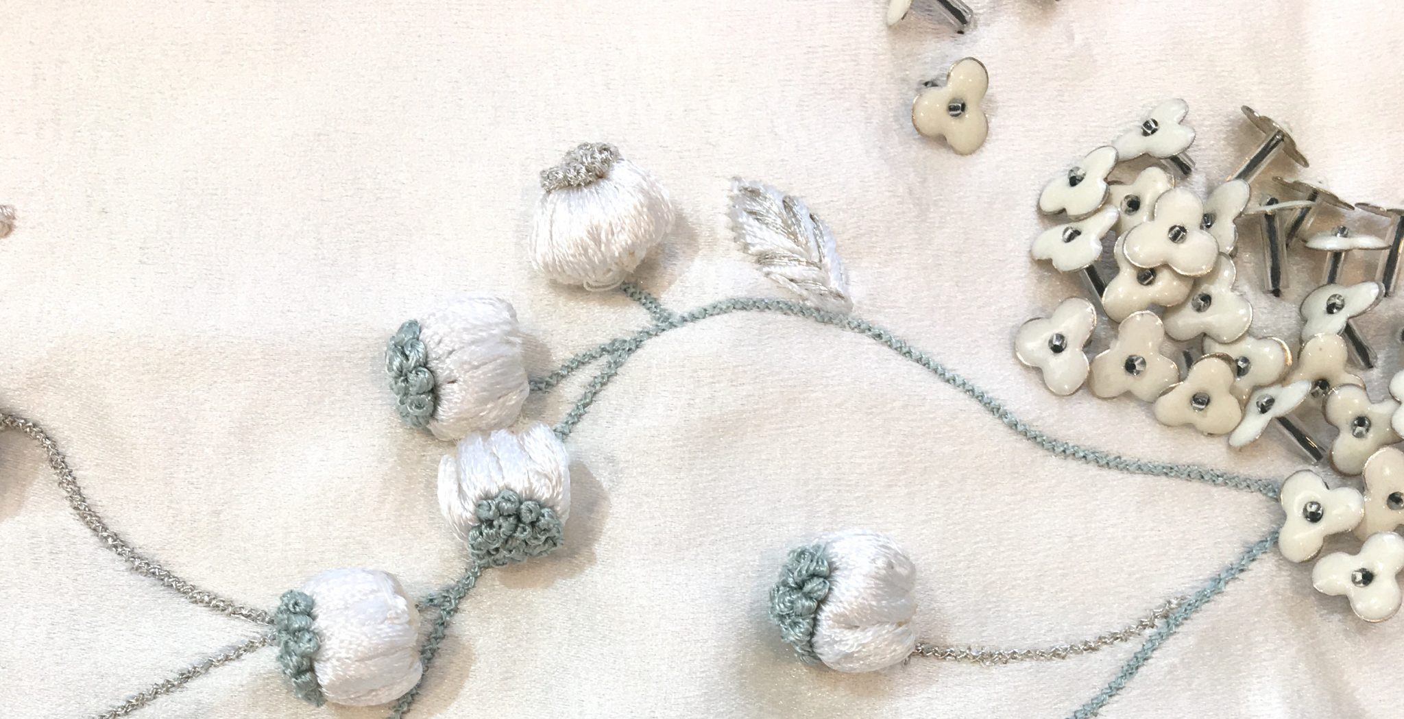 Phillipa Lepley Detail Dahlia Embroidery