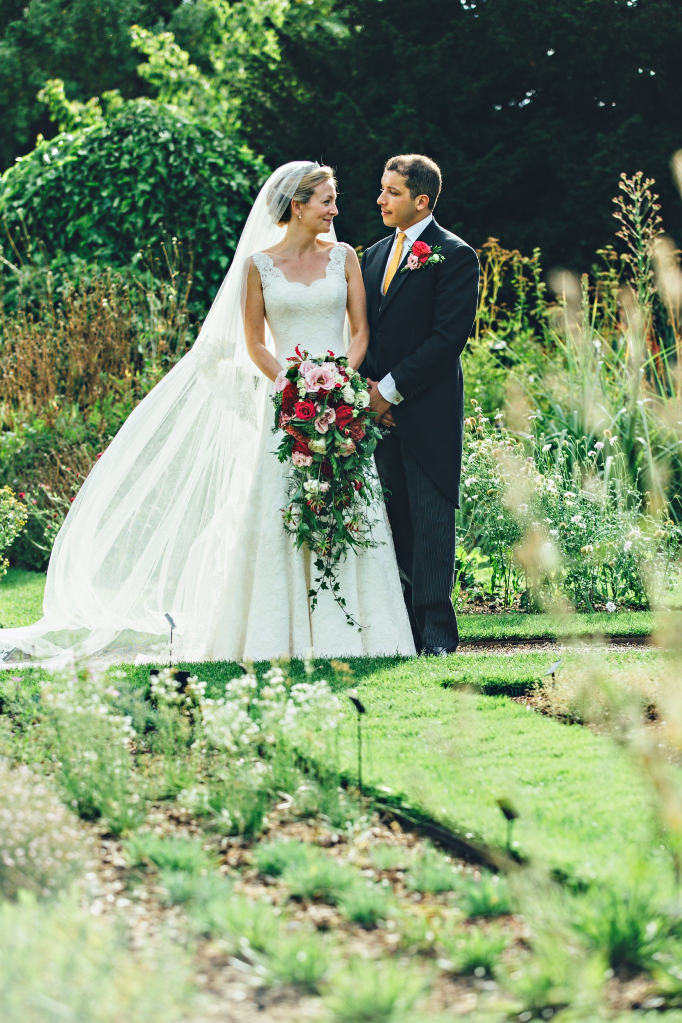 Phillipa Lepley Lace Wedding dress and veil
