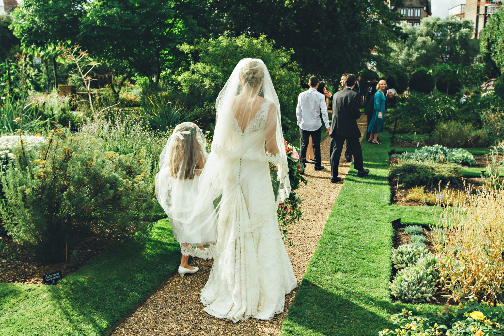 Phillipa Lepley lace wedding dress with bustle