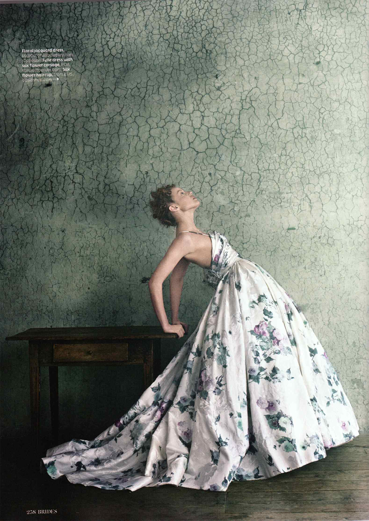 Phillipa Lepley Coloured Fl Wedding Dress As Featured In Brides Magazine