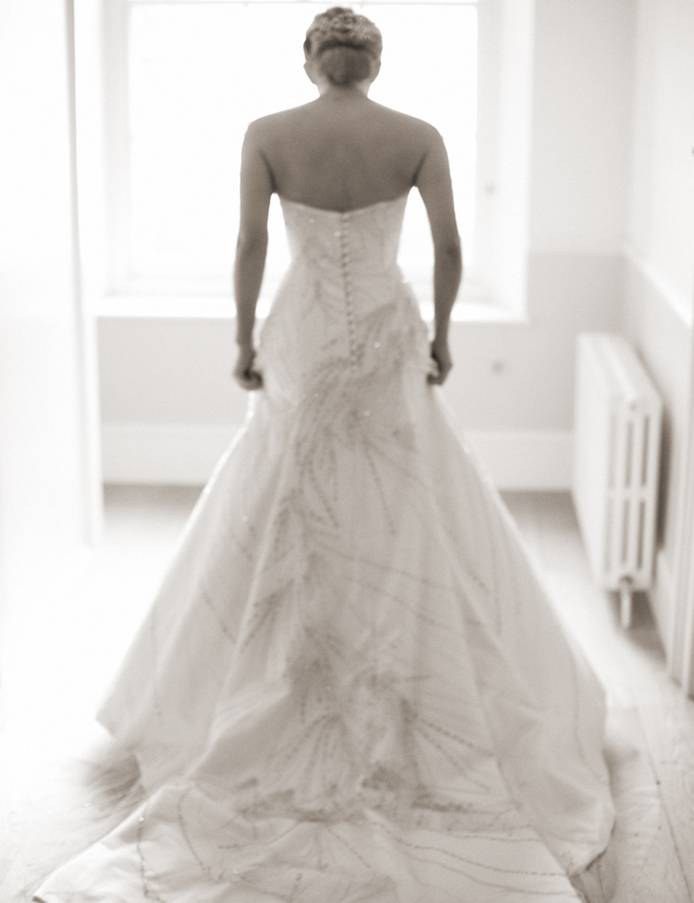 SARAH'S BESPOKE BEADED WEDDING DRESS