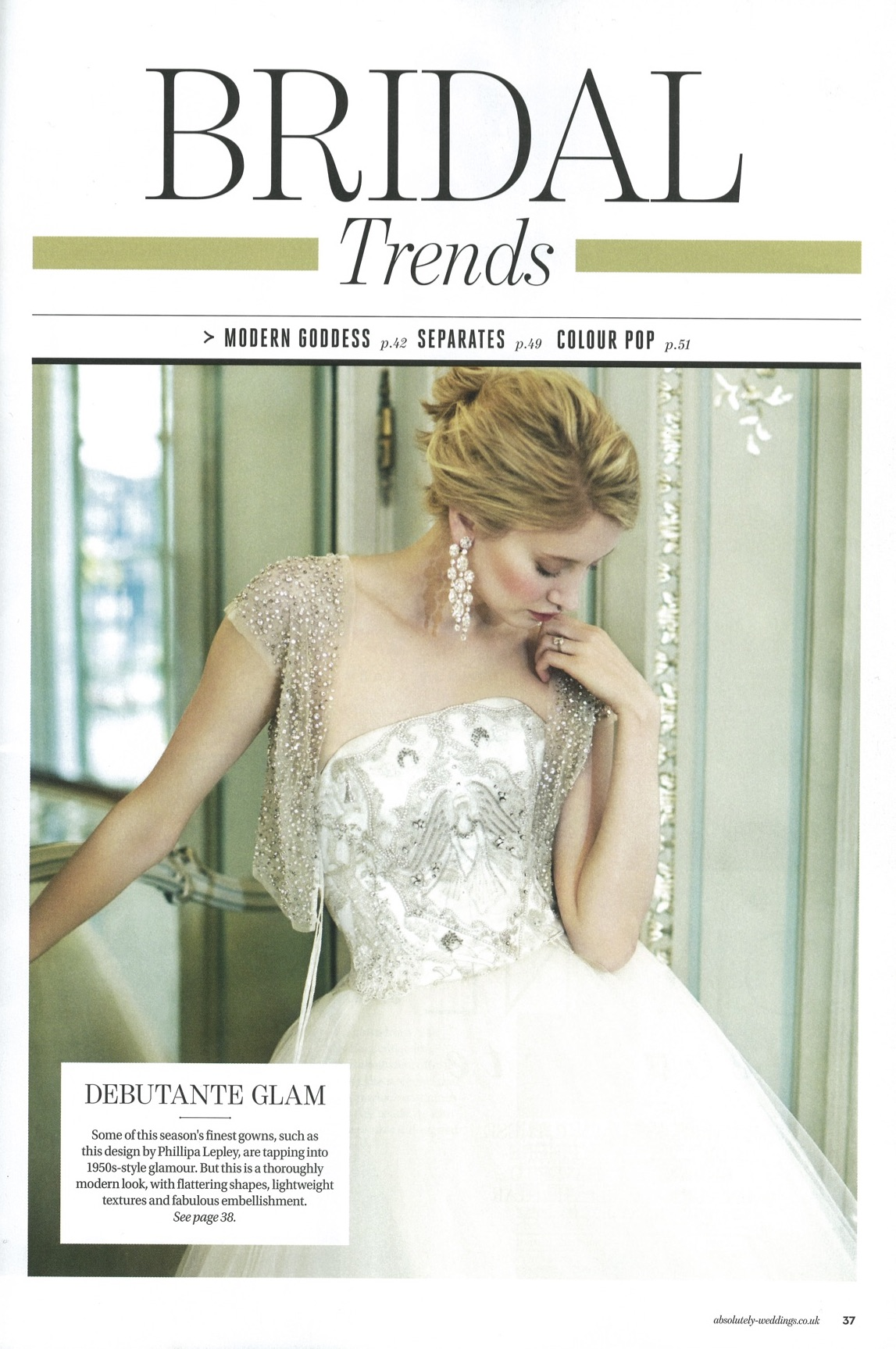 PHILLIPA LEPLEY FEATURED IN ABSOLUTELY WEDDINGS MAGAZINE