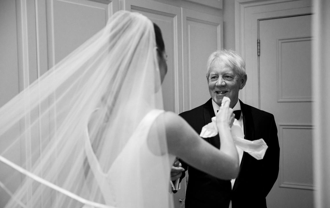 Phillipa Lepley satin bespoke wedding dress with bow