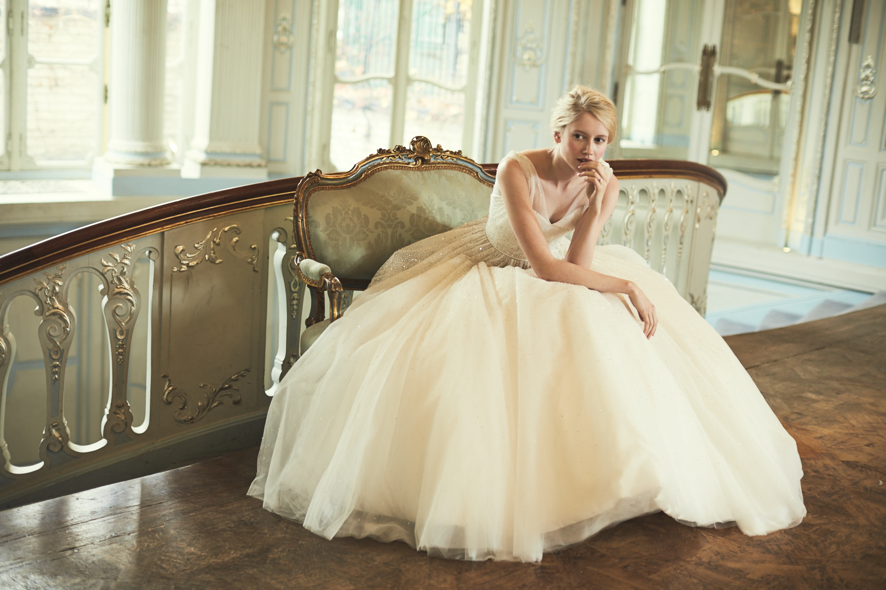 COUTURE WEDDING DRESS – WHITE CINDERELLA