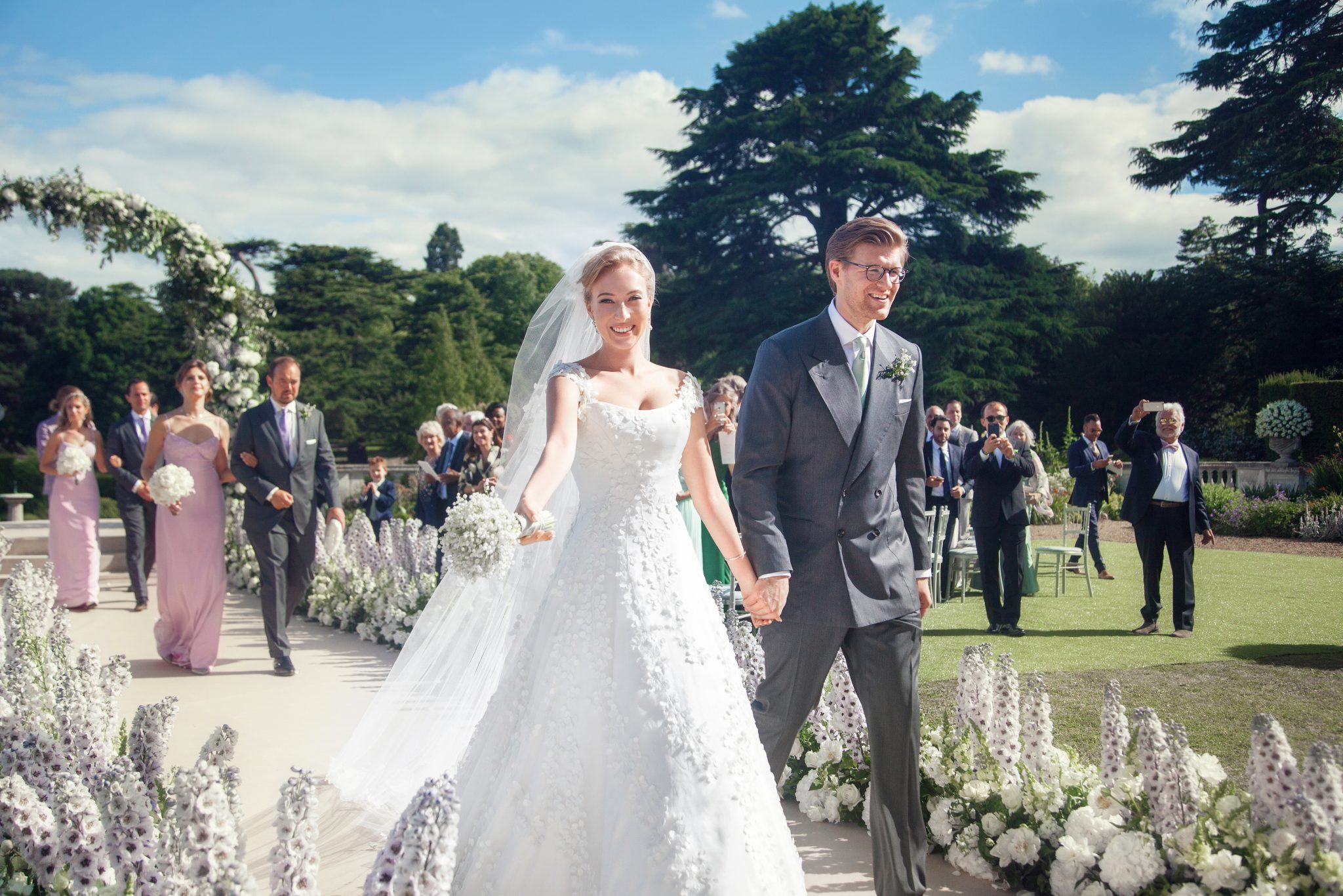 Phillipa Lepley - Lily of the Valley Wedding Dress with applique veil