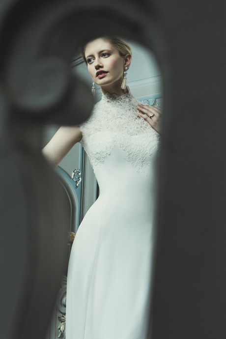 Phillipa-Lepley-Georgette-Lace-Designer-Wedding-Dress-with-High-Neck