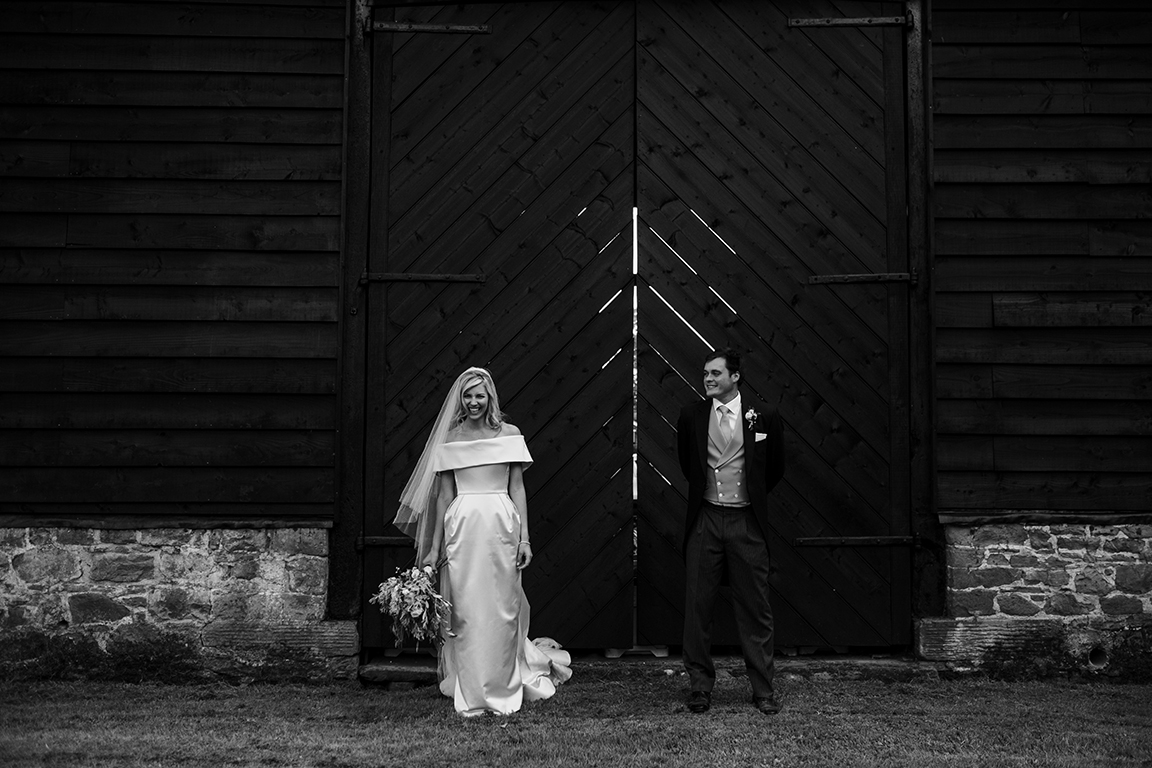 COUTURE SATIN COLLAR WEDDING DRESS