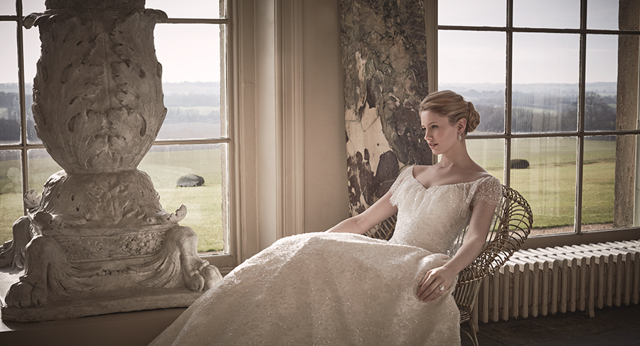 COUTURE WEDDING DRESS – ALICE WATER GARDEN