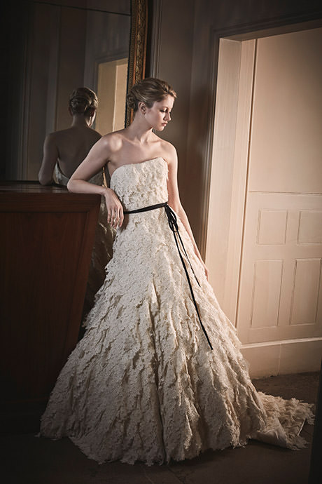 Phillipa Lepley Dramatic Lace Couture Wedding Dress London UK British Bridal Gown Designer