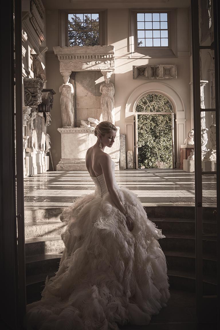 Phillipa Lepley Feathers Wedding Dress London UK