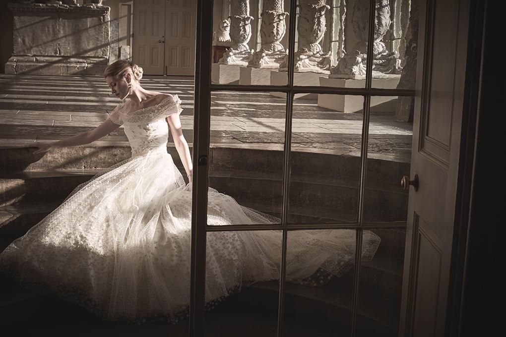 Phillipa Lepley Princess Wedding Dress London Floral Dotty Corset UK
