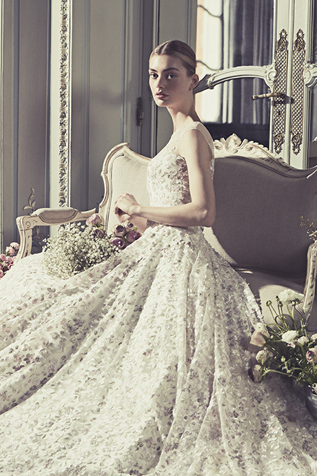 COUTURE WEDDING DRESS: VIENNA PALE FAIRYTALE