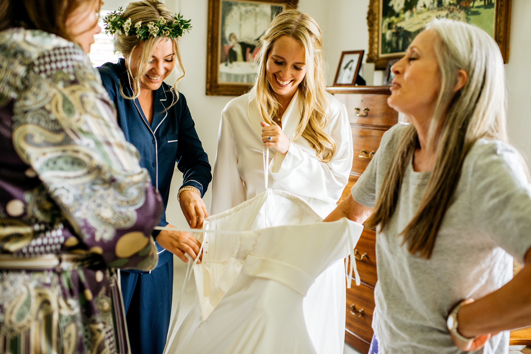 Phillipa Lepley Couture Wedding Dress London Strapless Silk Duchesse Satin Corset Silk Satin Chiffon Floaty Skirt