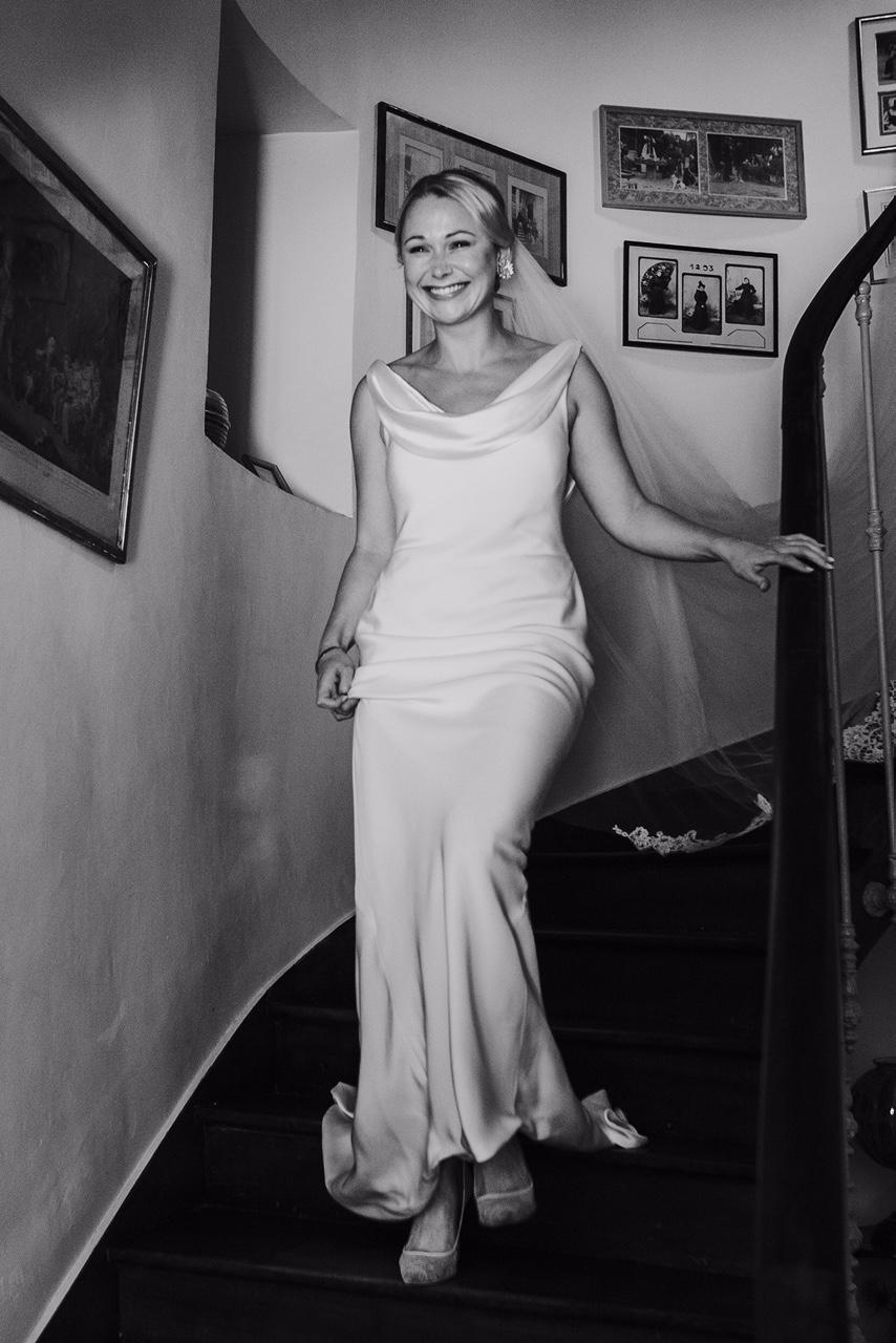 SOPHIE'S BIAS CUT WEDDING DRESS
