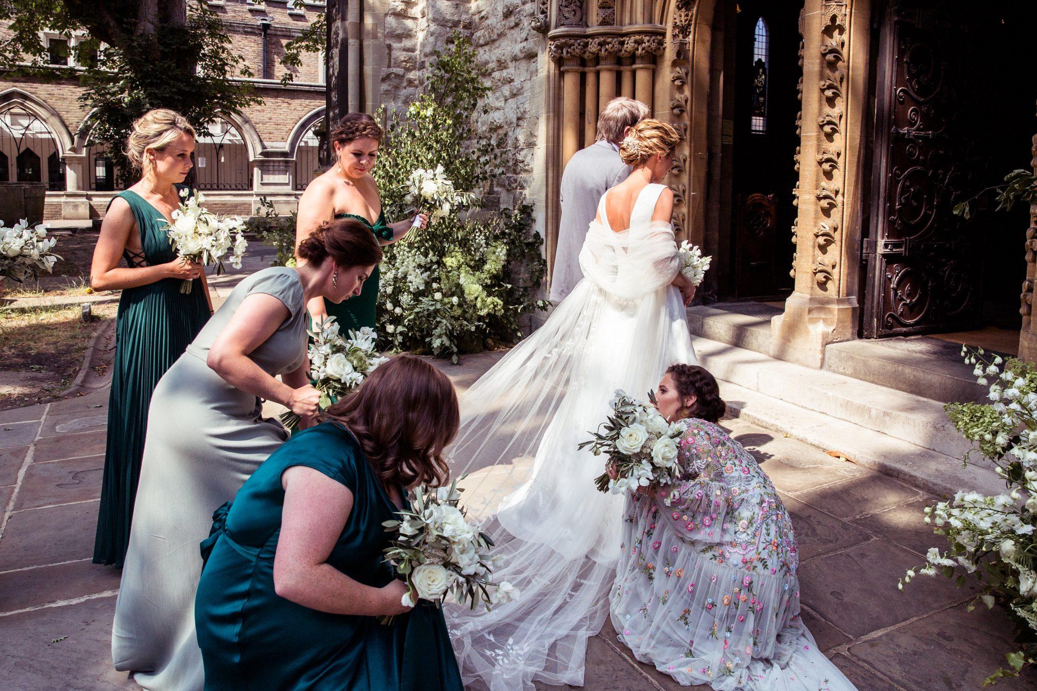 Phillipa Lepley Real Bride Couture Wedding Dress London UK