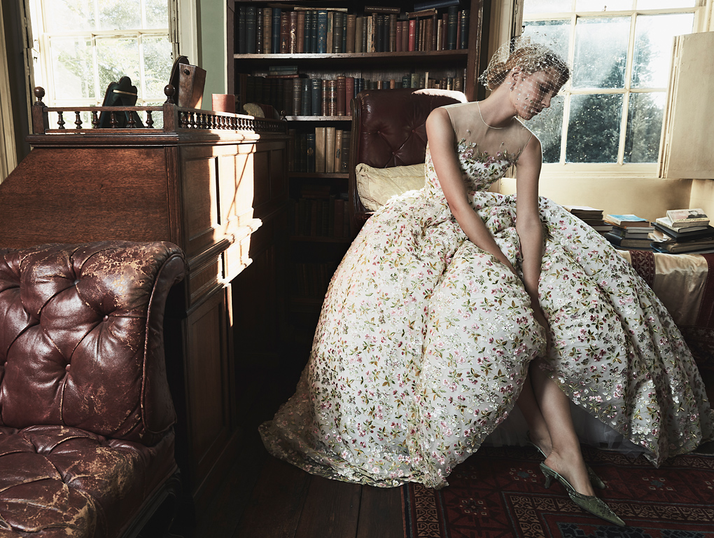 Phillipa Lepley Full Skirted Embroidered Wedding Dress Couture Wedding Dress Designer London