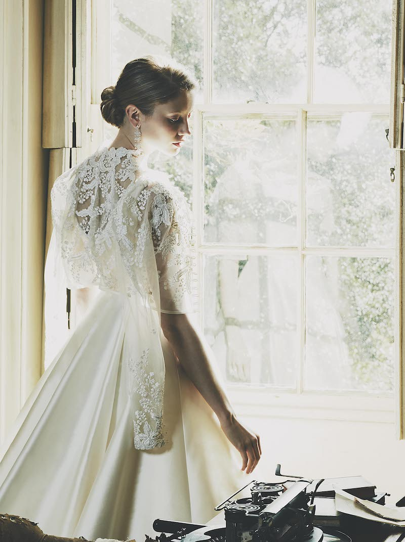 Nude Mesange Zibelene' is a beautifully clean, ivory wedding dress by London wedding dress designer Phillipa Lepley