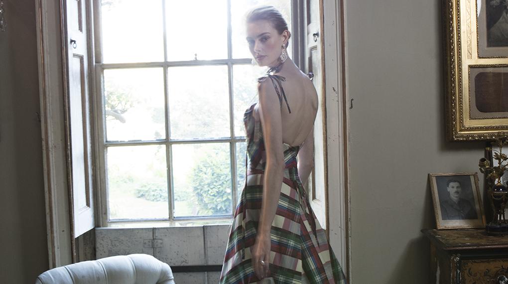 Phillipa Lepley Couture Wedding Dress London UK Designer Bespoke Couture Tartan 1907 1875 1020 X 570