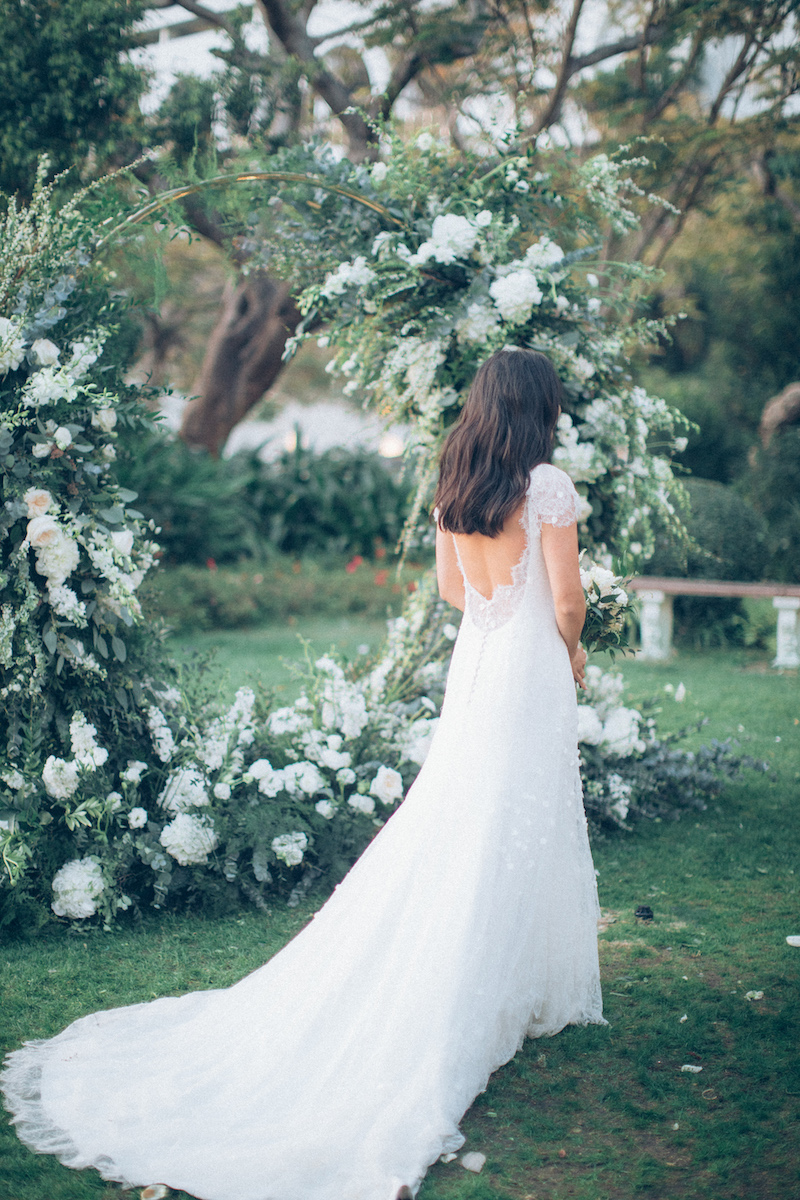 REAL BRIDE: SUSANNAH SACRED DELICATE LACE WEDDING DRESS