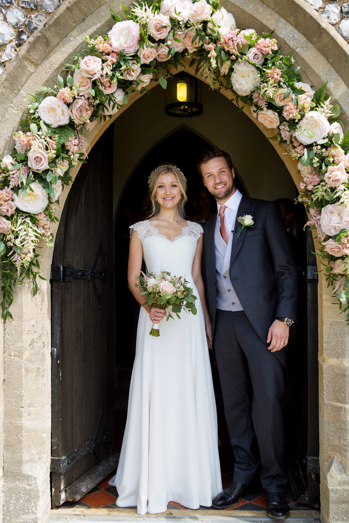 REAL BRIDE: A BESPOKE IVORY, SILK & LACE WEDDING DRESS