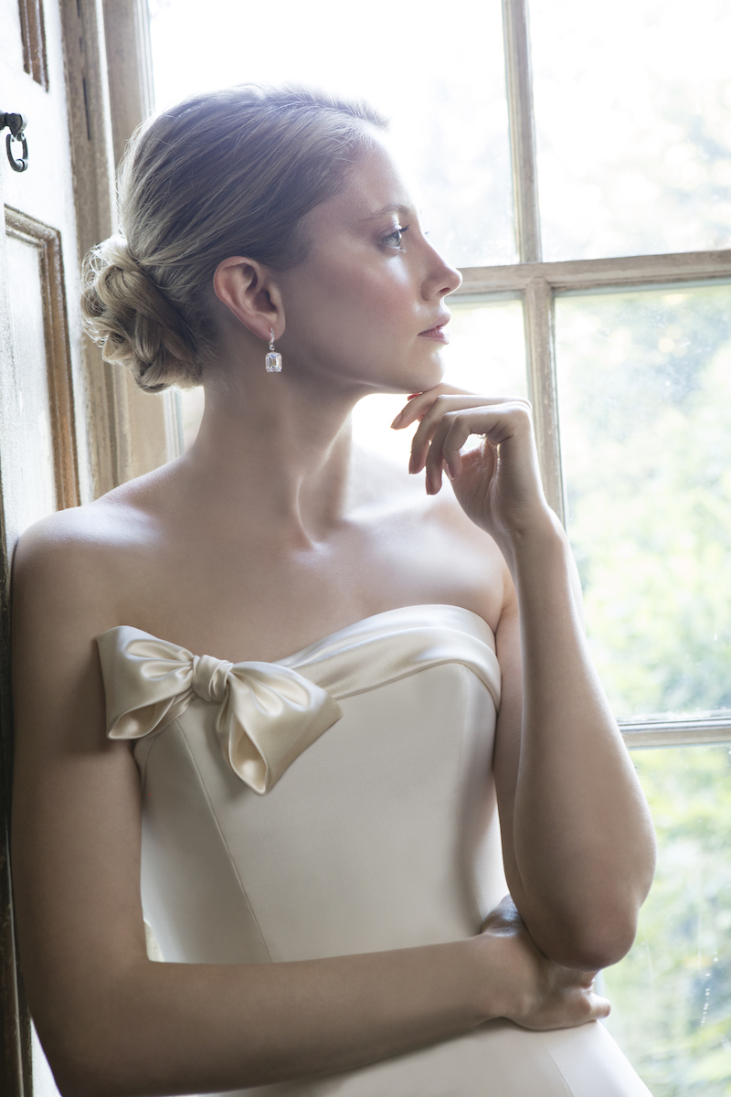 COUTURE WEDDING DRESS – TALLULAH CREPE SATIN BOW