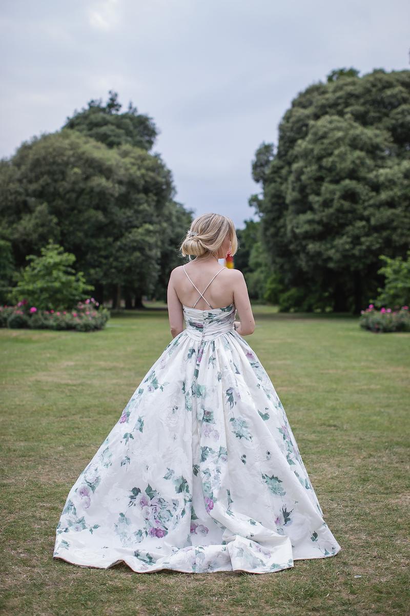 Bespoke wedding dress: TOULOUSE ROSE COUTURE WEDDING DRESS FOR A KEW GARDENS WEDDING