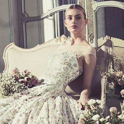 Phillipa Lepley Couture Wedding Dress London UK Embroidered Bespoke Dress