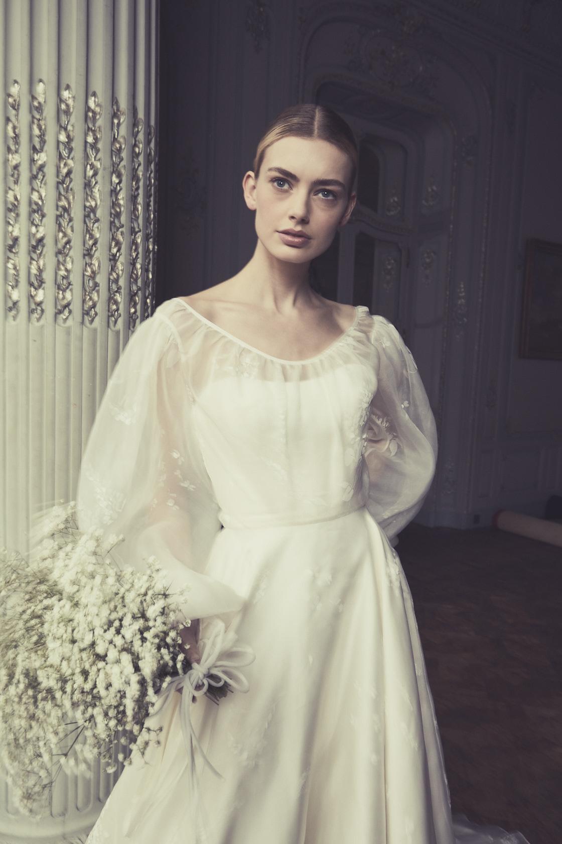 Vienna Wisteria Bridalwear by Phillipa Lepley, London Wedding Dress Designer Organza Wedding Dress