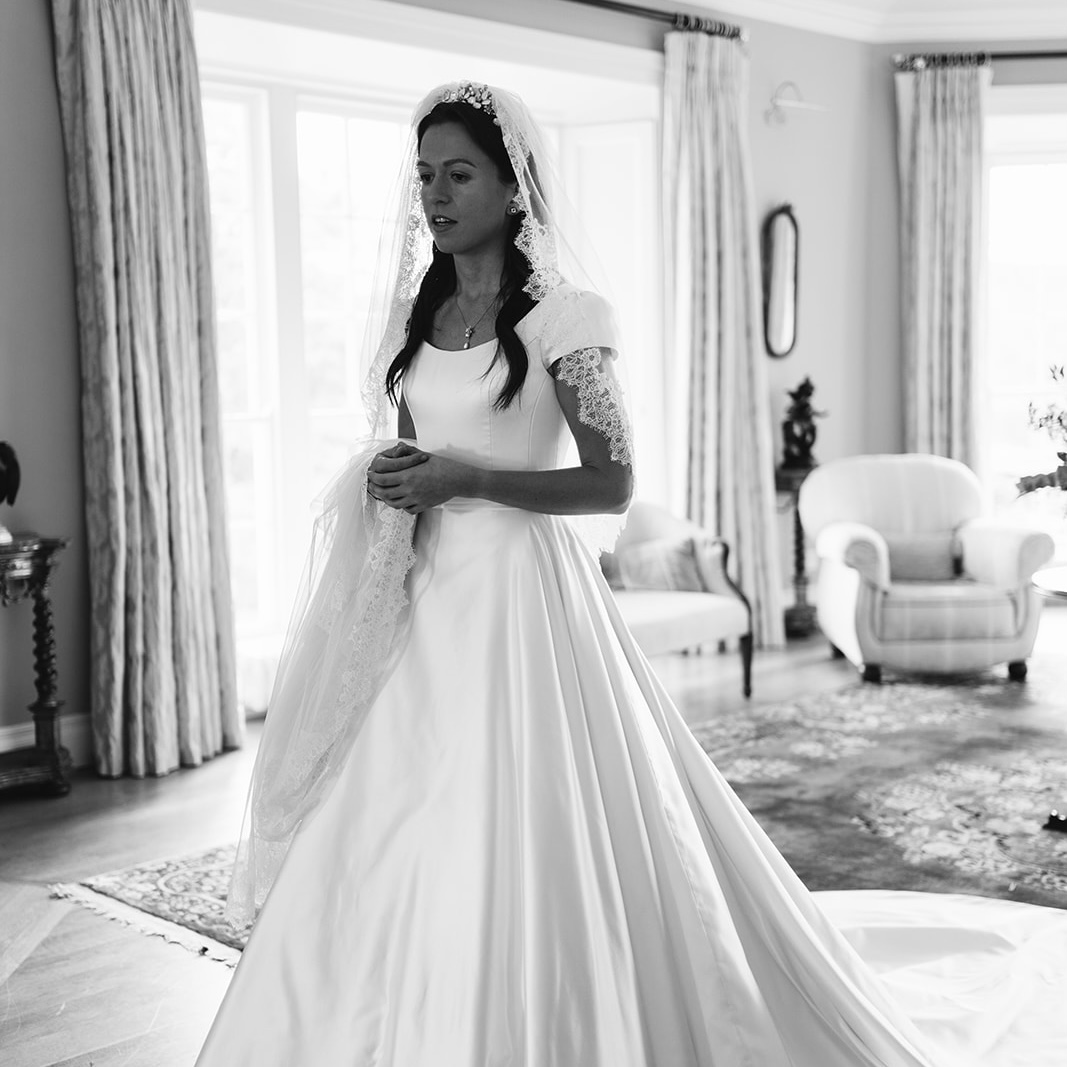 Real Bride Poppy's Duchess Satin Wedding Dress