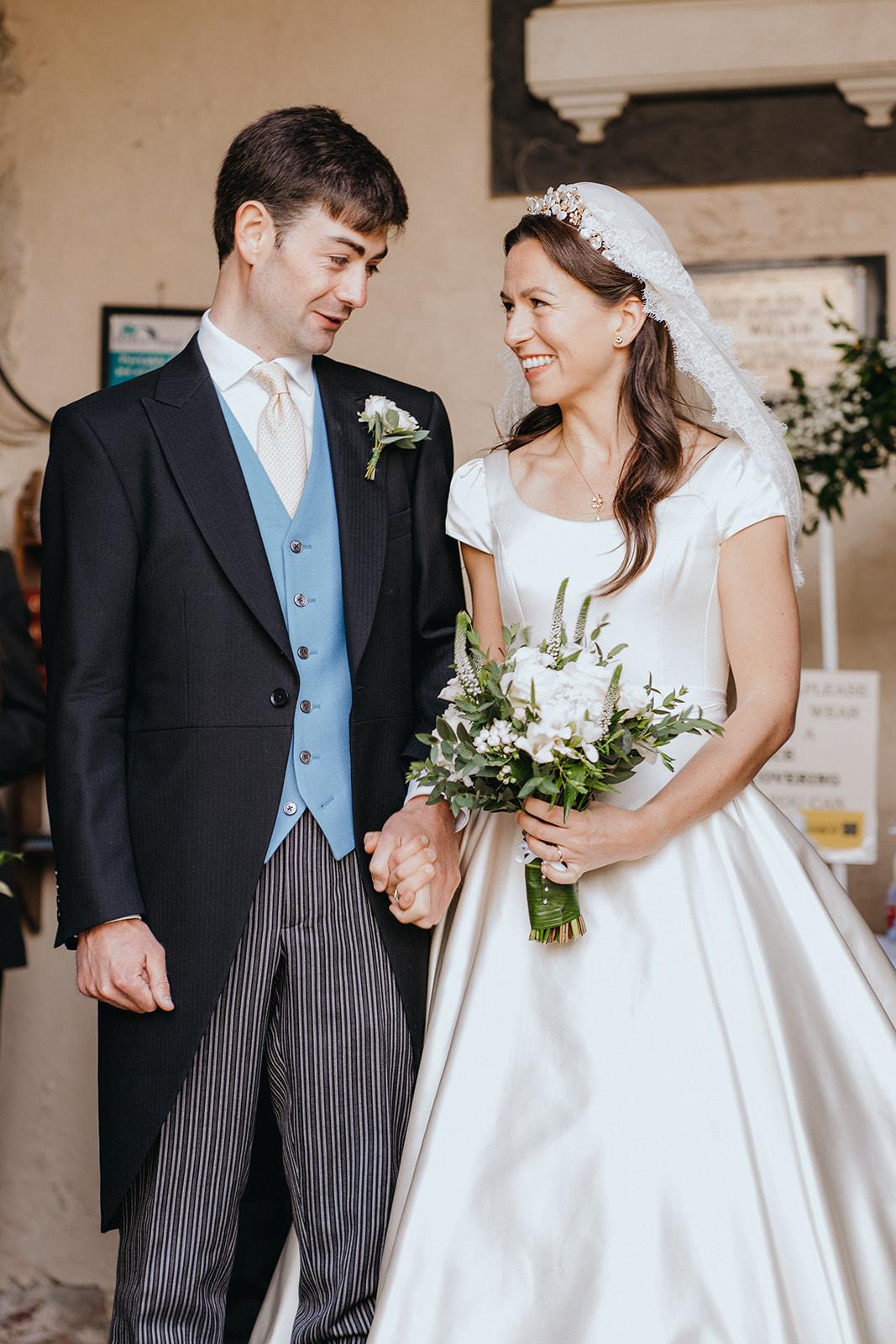 Real Bride Poppy's Duchess Satin Wedding Dress