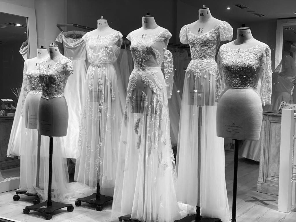 Wedding Dress Shop Window Transform Your Wedding Day Look With Overlays Phillipa Lepley Couture Wedding Dresses London